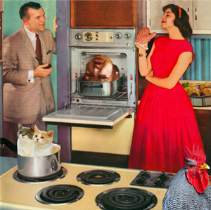 The Fifties Kitchen Recipei for Oven Head With Cat